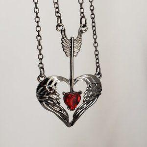 Arrow Thru the  Heart Necklace